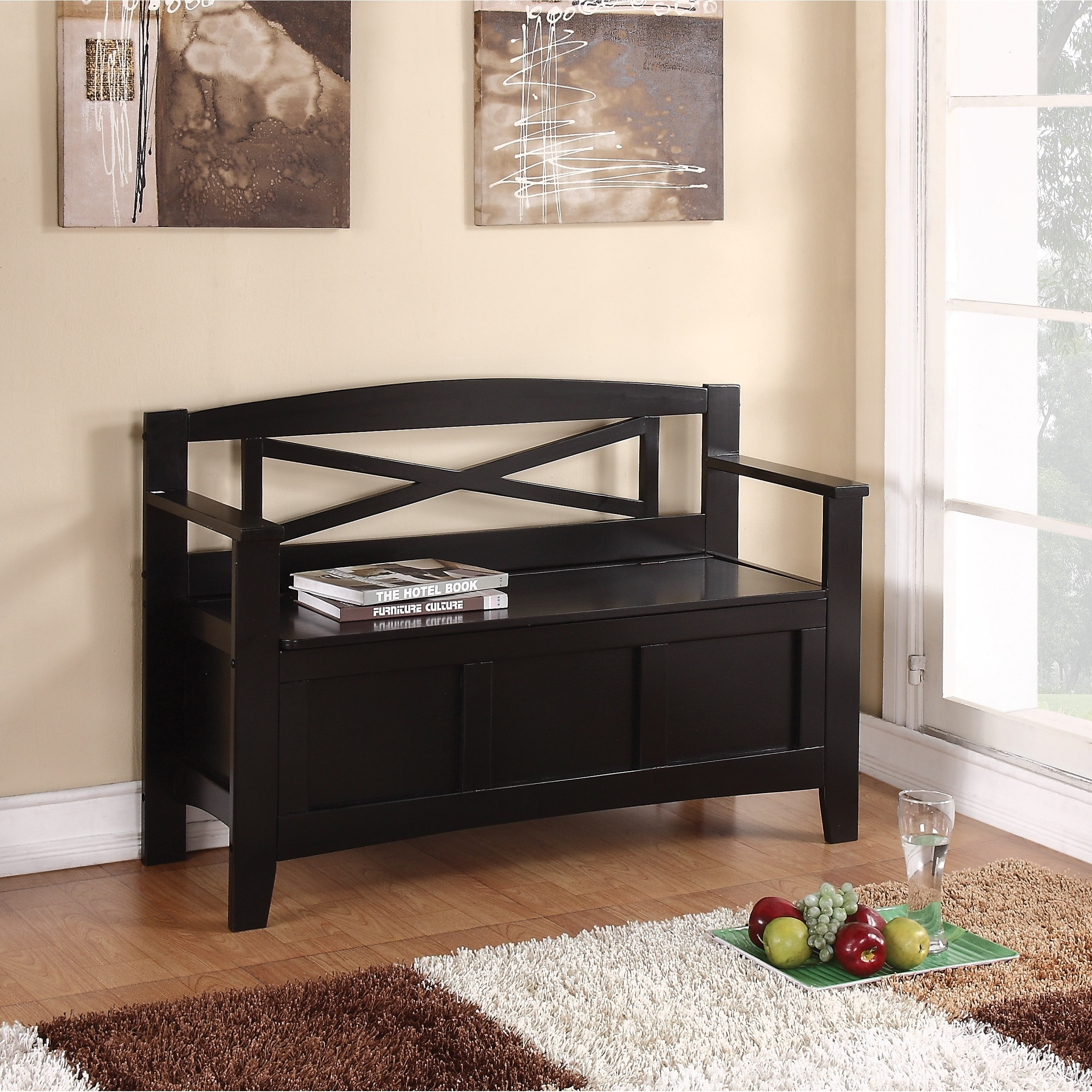 Amazing Details About Storage Bench Flip Up Organizer Entryway Home Decor Furniture Black Gift New Short Links Chair Design For Home Short Linksinfo