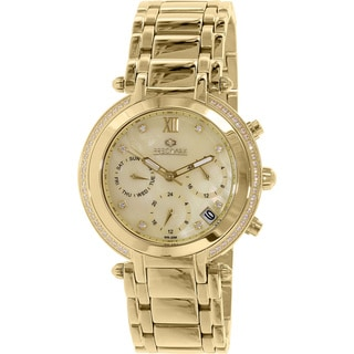 Precimax Women's PX13349 Glimmer Elite Goldtone Mother-Of-Pearl Dial Swiss Chronograph Watch
