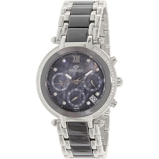 Precimax Women's PX13343 Glimmer Elite Ceramic Two-tone Mother of Pearl Dial Watch
