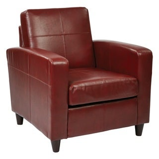 Copper Grove Mandevilla Club Chair in Environmentally Friendly Eco Leather/ Solid Wood Legs