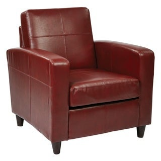 Clay Alder Home Gramercy Club Chair in Environmentally Friendly Eco Leather & Solid Wood Legs