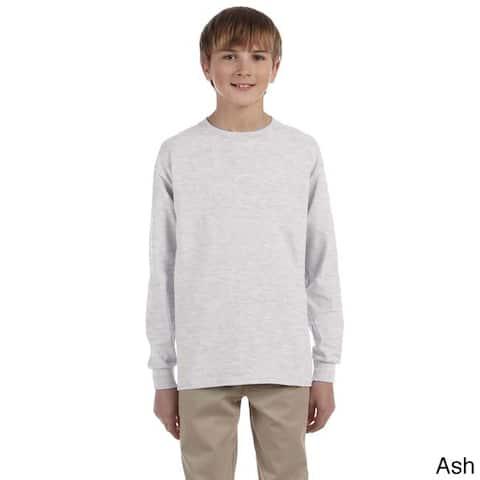 Youth Boy's Heavyweight Blend Long-sleeve T-Shirt