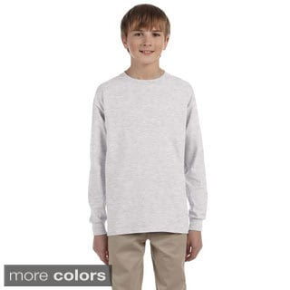 Youth Boy's Heavyweight Blend Long-sleeve T-Shirt