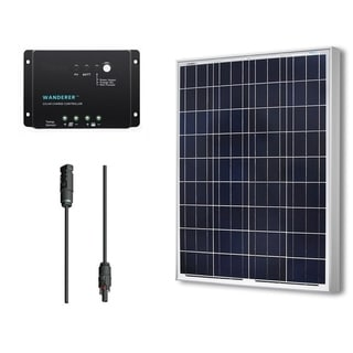 Renogy Solar Bundle Kit: 100W Polycrystalline 12V with 100W Solar Panel/ 30A Charge Controller/ MC4 Adapter Kit