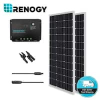 Renogy 200W 12V Mono Solar Panel Bundle Kit Negative Ground Controller Off Grid