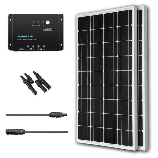 Shop Renogy Solar Panel Bundle Mono 200w With 2 100w