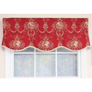 Cameo Toile Crimson Provance Window Valance