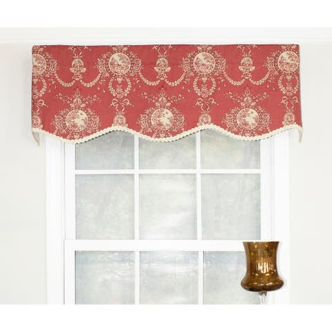 "RLF Home Cameo Toile Provance 50"" Window Valance"