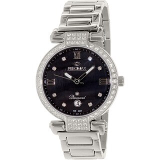 Precimax Women's PX13335 'Siren Diamond' Stainless Steel Black Watch