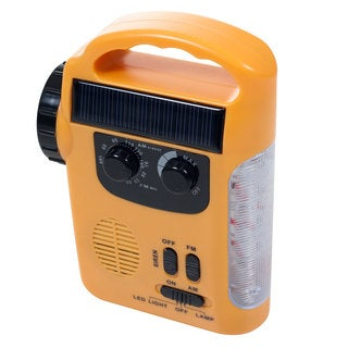 Stalwart Emergency Rechargeable Flashlight Radio and Siren