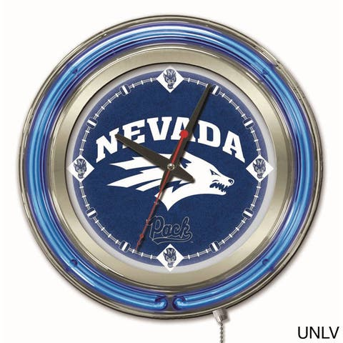 Holland Neon Mountain West College Logo Clock.