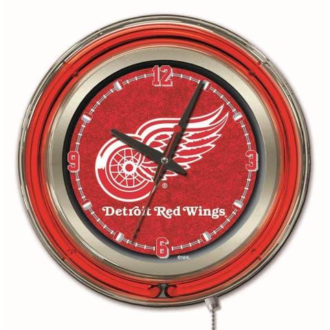 Holland US NHL Neon Logo Clocks