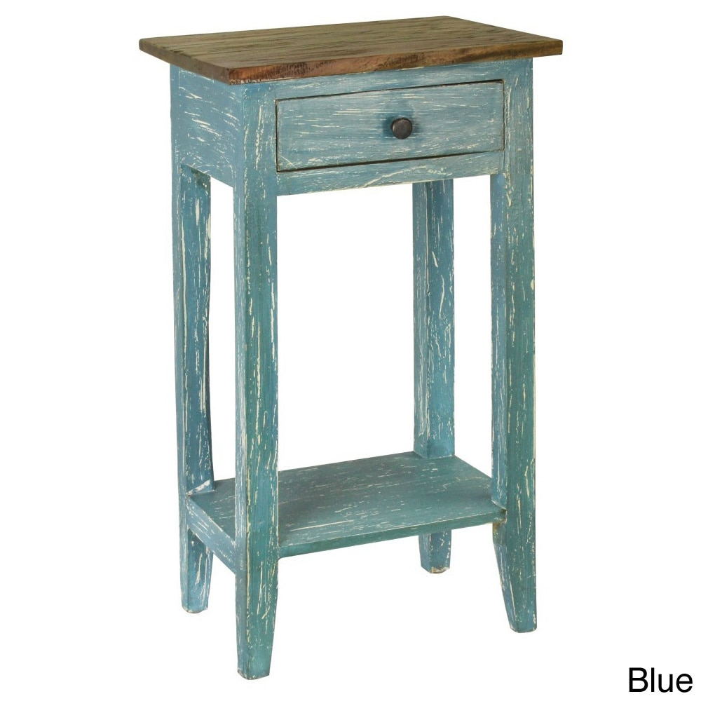 Picture 6 of 10 ... - Antique Revival Avignon Side Table Blue 100 Solid Mahogany Wood EBay