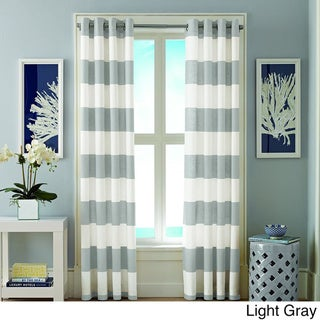 Nautica Cabana Stripe 84-Inch Cotton Grommet Top Curtain Panel Pair