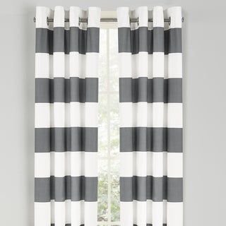 Curtains Ideas brown white striped curtains : Nautica Cabana Stripe 84-Inch Cotton Grommet Top Curtain Panel ...