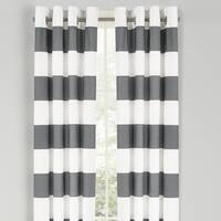 Nautica Cabana Stripe 84-Inch Cotton Grommet Top Curtain Panel Pair - 52 x 84