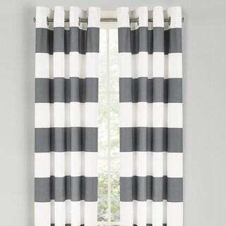 Nautica Cabana Stripe 84-Inch Cotton Grommet Top Curtain Panel Pair
