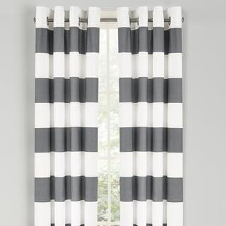 Nautica Cabana Stripe 84 Inch Cotton Grommet Top Curtain Panel Pair