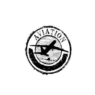 Aviation Plane Stamp Vinyl Wall Art