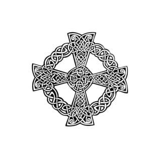 Irish Cross In Circle Vinyl Wall Art