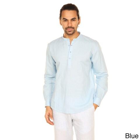 Handmade In-Sattva Anita Dongre Men's Mandarin Collar Pullover Tunic (India)