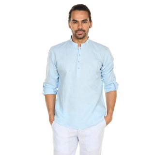 In-Sattva Anita Dongre Men's Pullover Tunic with Mandarin Collar (India)