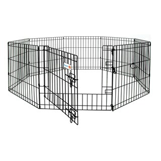 Aspen Pet Black Single Door 8-panel Metal Exercise Pen