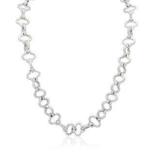 Gioelli Sterling Silver Quadrifoglio Necklace with Toggle