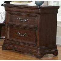 Dark Brown 3-drawer Nightstand by Greyson Living