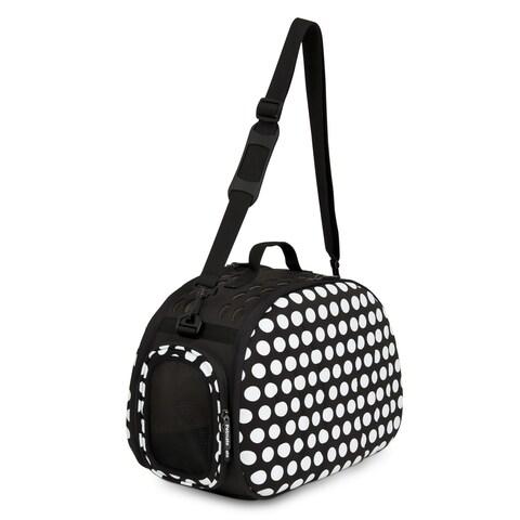Petmate Curvations Black / White Polka-dot Pet Carrier