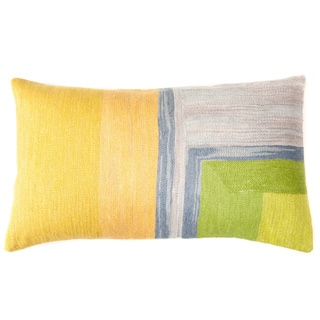 Chain Green/ Yellow Decorative Throw Pillow