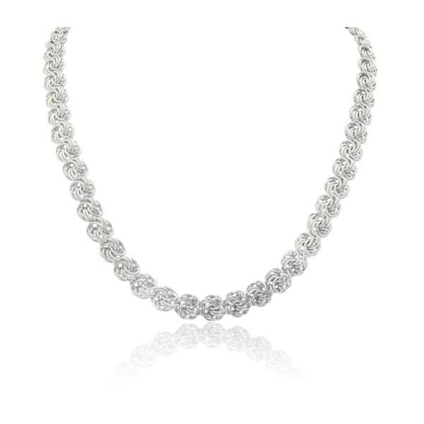Gioelli Sterling Silver Rosetta Chain Necklace