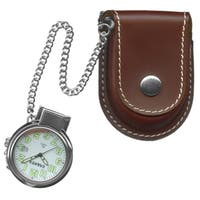 Dakota Men's Leather Pouch Pocket Watch