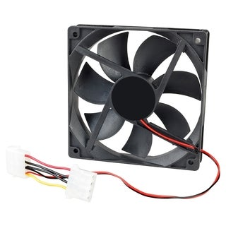 INSTEN Black 120-mm Chassis Cooling Fan for Computer Notebook Laptop