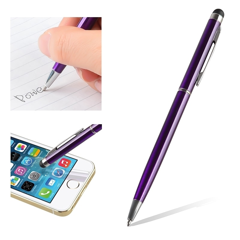 5 x Touch Screen Stylus Pen With Ball Point Pen For Apple iPad Samsung Tablet