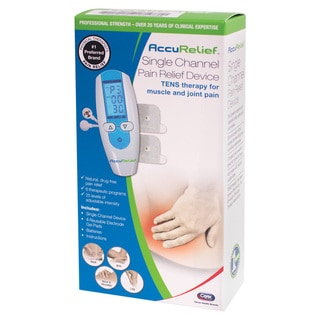 AccuRelief Single Channel TENS Electrotherapy Pain Relief Unit