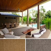 Mercedes Bordered Indoor/ Outdoor Area Rug (7'10 x 11'1)