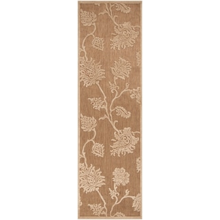 Meticulously Woven Jesse Transitional Floral Indoor/ Outdoor Area Rug (2'6 x 7'10)