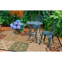 Ariel Transitional Geometric Indoor/ Outdoor Area Rug - 7'10 x 10'8