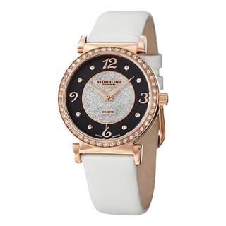 Stuhrling Original Woman's Astra Swiss Quartz Leather Strap Watch