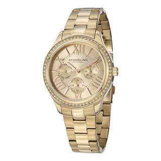 Stuhrling Original Woman's Lady Majestic Se Quartz Stainless Steel Bracelet Watch|https://ak1.ostkcdn.com/images/products/9117995/P16302655.jpg?impolicy=medium