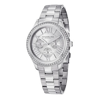 Stuhrling Original Woman's Lady Majestic Se Quartz Stainless Steel Bracelet Watch