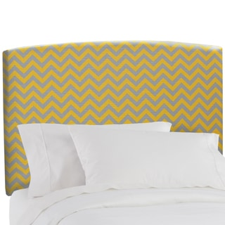Skyline Furniture Upholstered Headboard in Zig Zag Yellow Grey