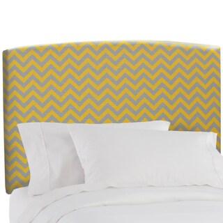 Skyline Furniture Upholstered Headboard in Zig Zag Yellow Grey