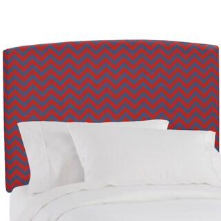 Skyline Furniture Upholstered Headboard in Zig Zag Red Blue