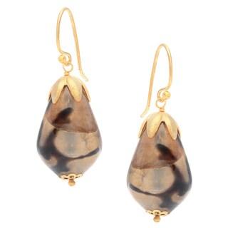 Safari Teardrop Hook Earrings