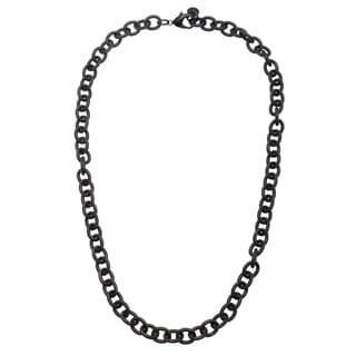 Tribeca Black Metal 22-inch Rolo Necklace