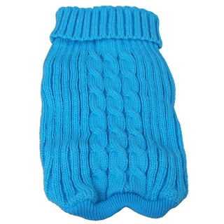 Pet Life Blue Collared Pet Sweater