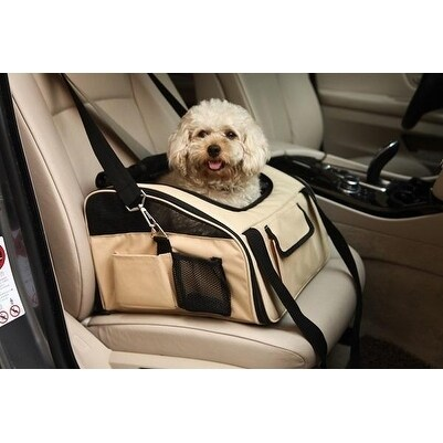 Petlife Collapsible Nylon Pet Booster Seat (Orange), Size...