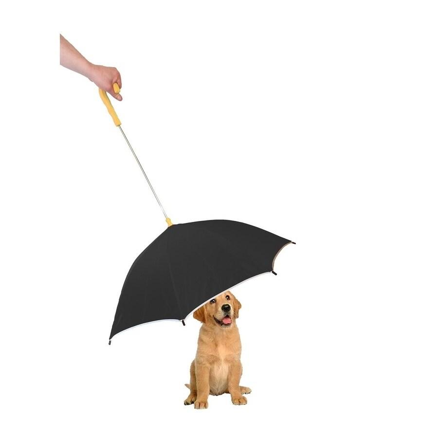 Petlife Pour-Protection Reflective Strip Umbrella (Black)...